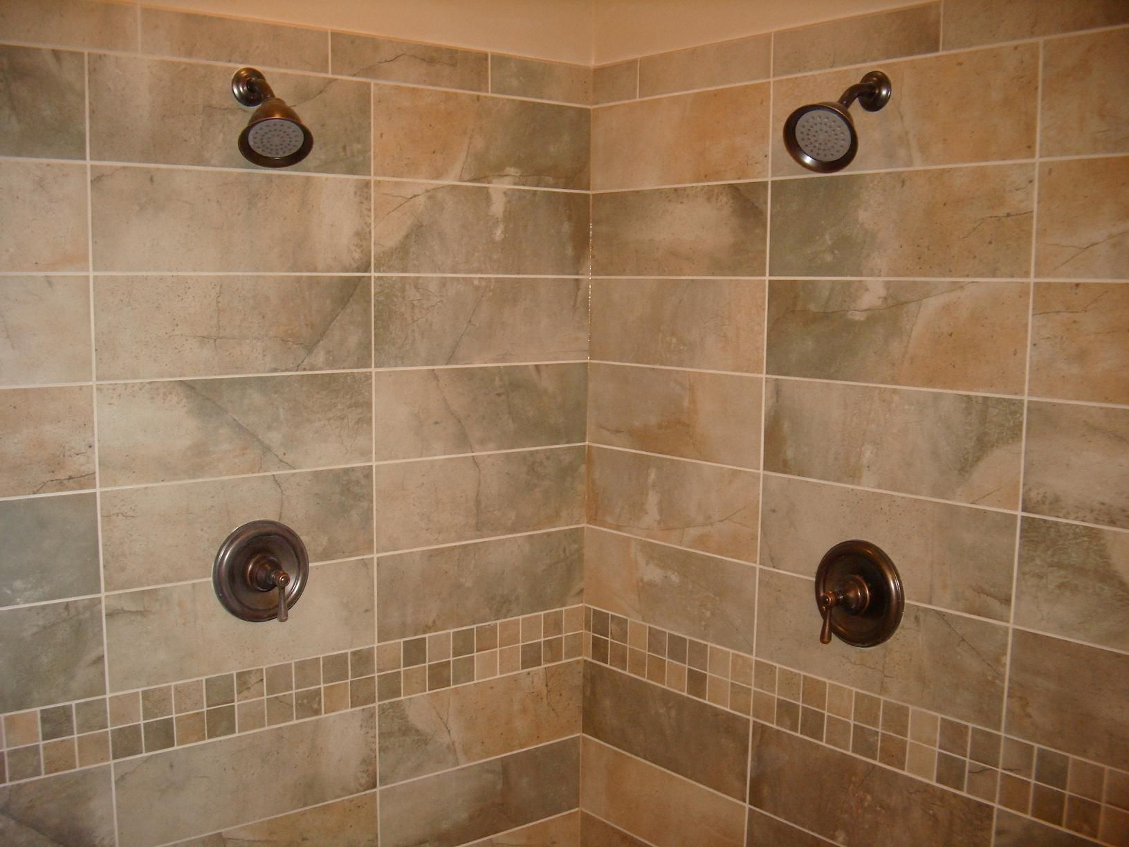 Shower Tile Layout Patterns | tiles for the accent strip as well ...