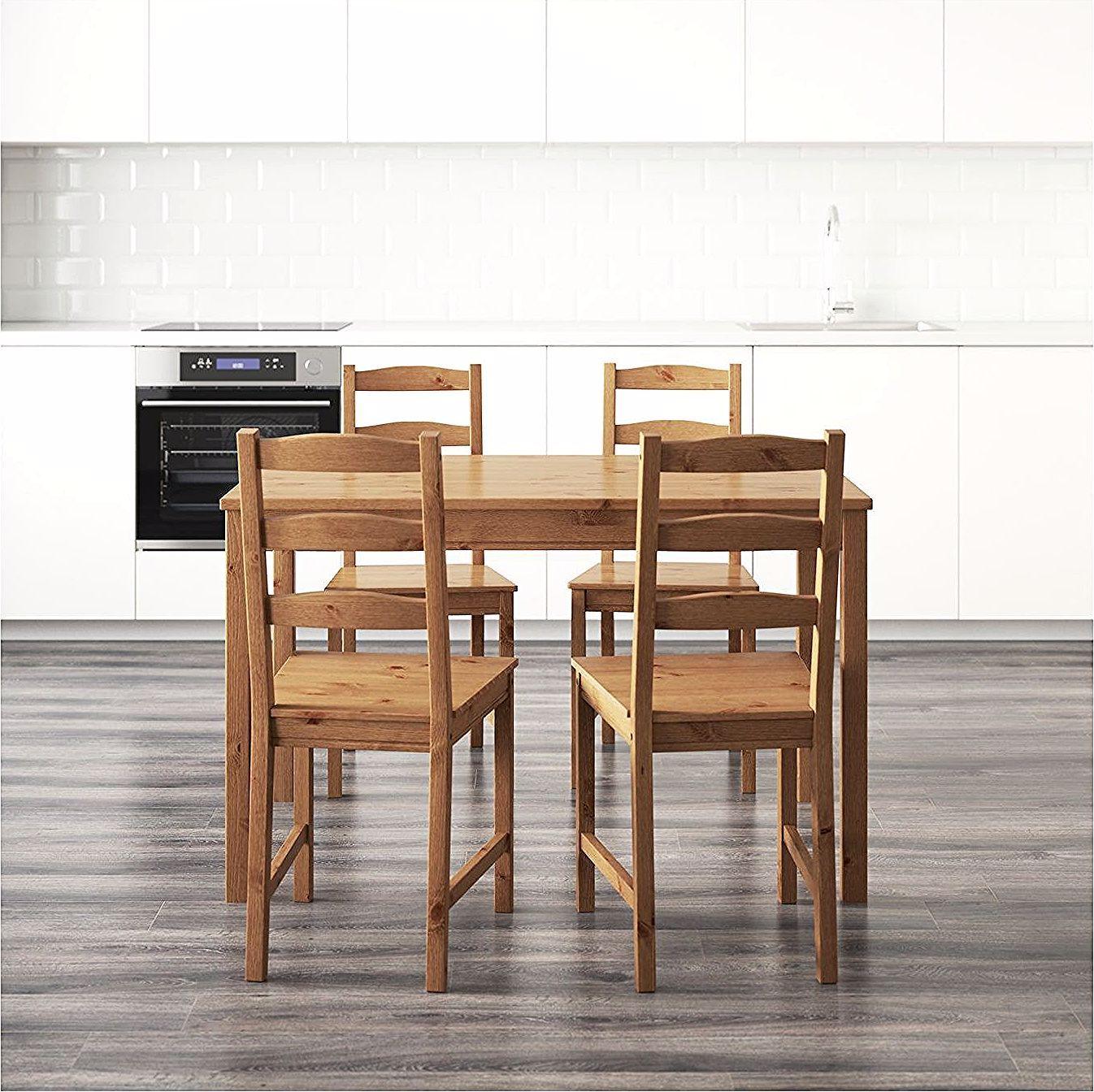 Jokkmokk Table And 4 Chairs Antique Stain Ikea Ikea Jokkmokk