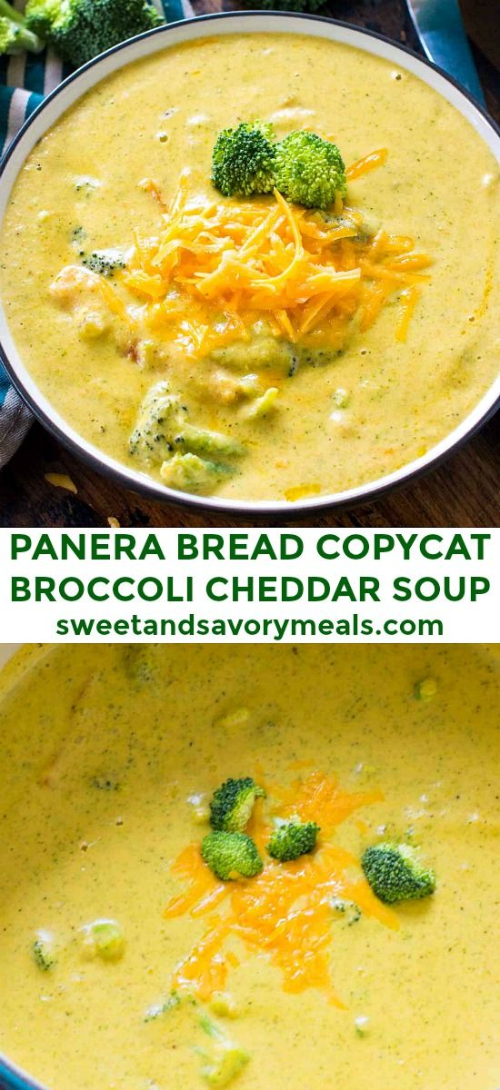Panera Bread Broccoli Cheddar Soup Copycat [VIDEO] - Sweet and Savory Meals