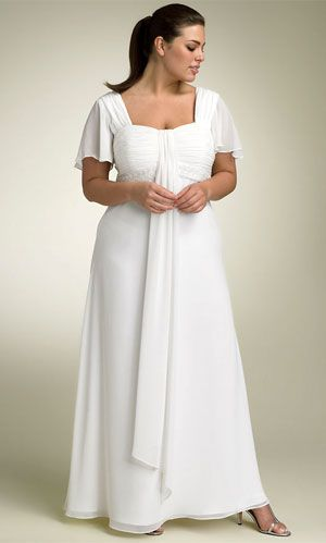 plus size wedding dresses 2013 Would look nice with some extra ...