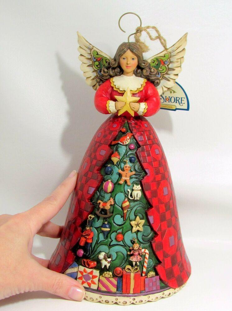 Jim Shore Christmas Spirit Shines Bright Tree Angel 2010 Figurine Box 4018776 Jim Shore Christmas Jim Shore Christmas Angels