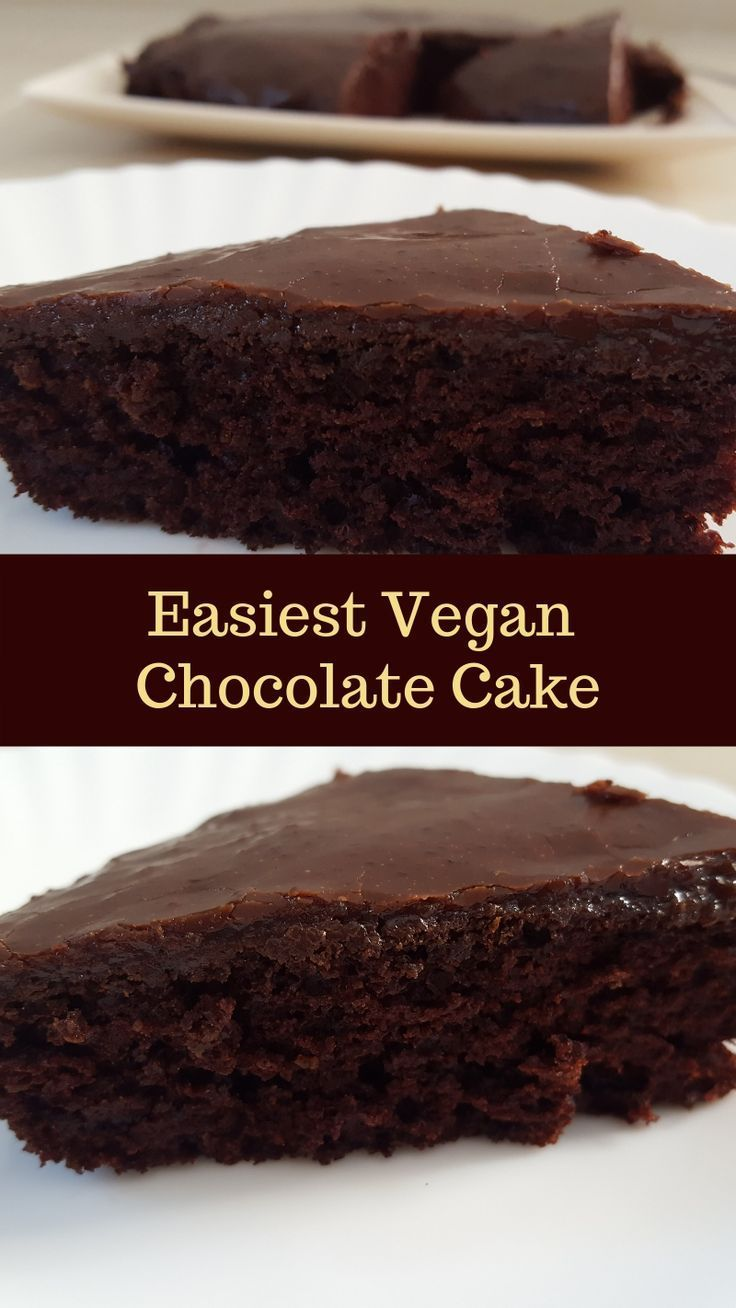 Easy Vegan Chocolate Cake | simple vegan chocolate cake