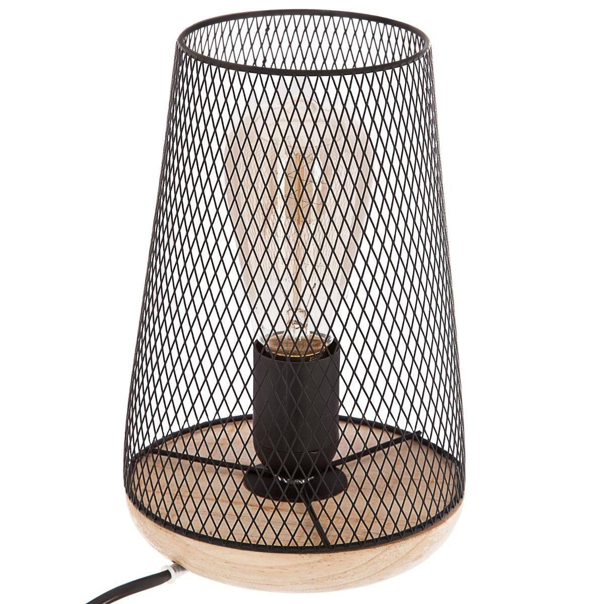 Métal Lampes Bois En TailleUniqueProducts Et Lampe OuXiPkZ