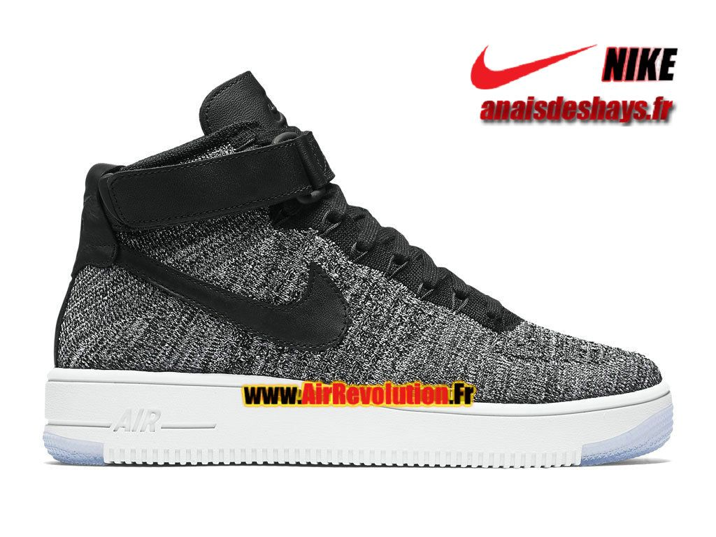 Boutique Officiel Nike Wmns Air Force 1 High Ultra Flyknit Femme/Enfant  Noir/Blanc