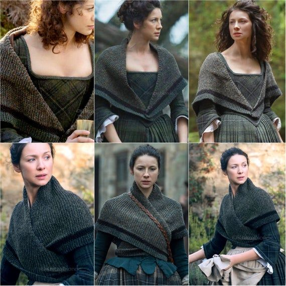 PDF Knitting Pattern Claire's Rent Shawl Outlander
