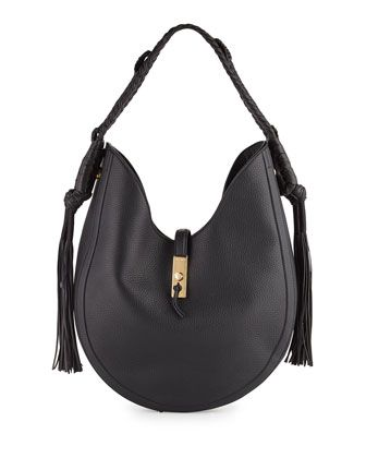 Ghianda+Large+Leather+Hobo+Bag,+Black+by+Altuzarra+at+Neiman+Marcus.