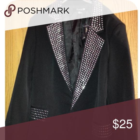 NWT Jeweled blazer Never worn, bejeweled blazer. Size medium. With tags Forever 21 Jackets & Coats Blazers