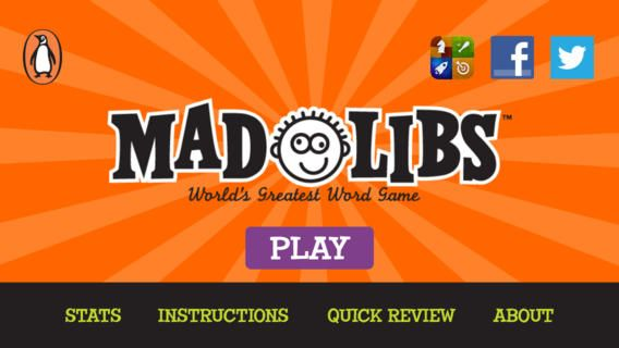 We have included an entire Mad Libs Collection book in this update for free! Inside you will find 21 amazing stories to play over and over and share with your friends.