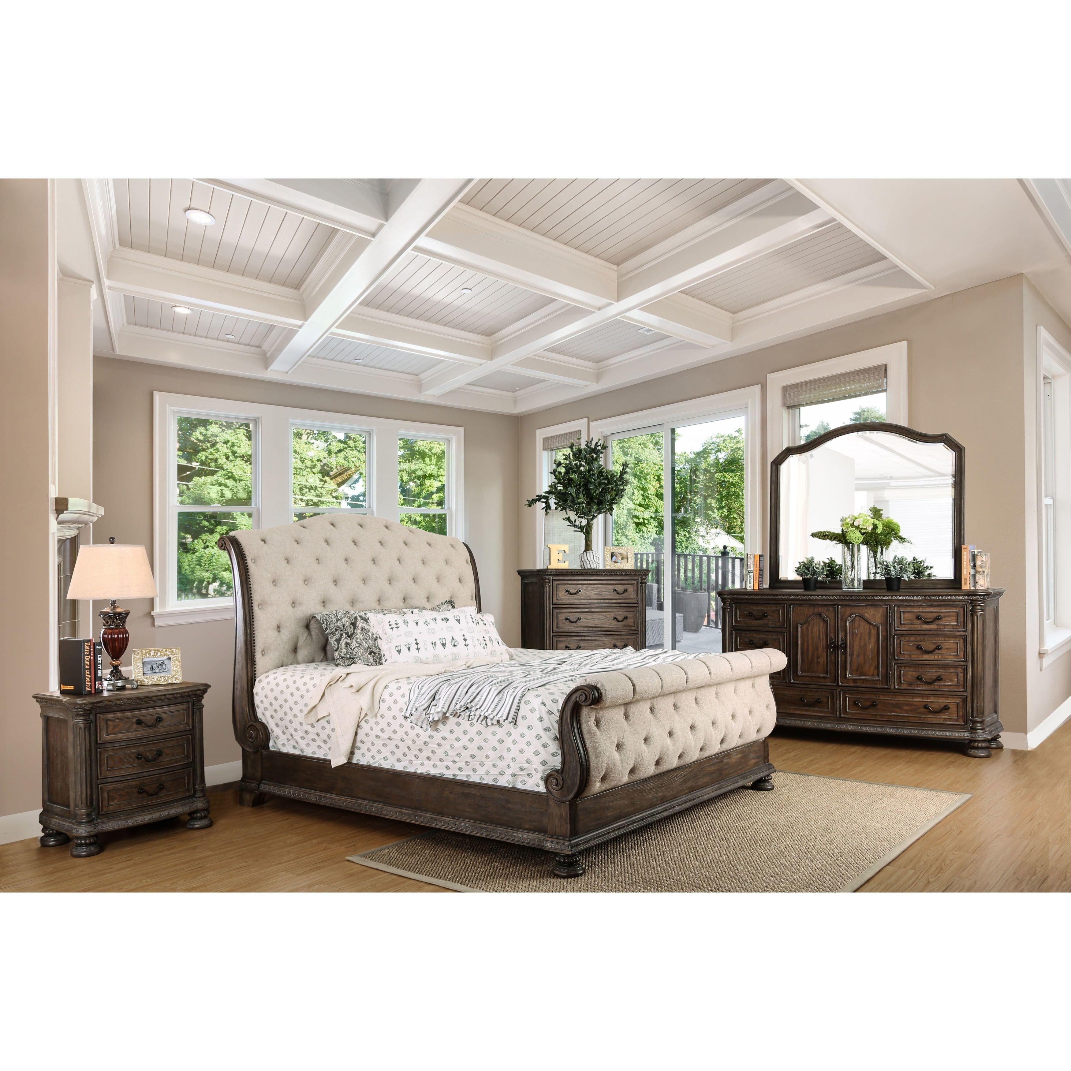 Furniture of America Brigette III Traditional 4-piece Ornate Rustic ...