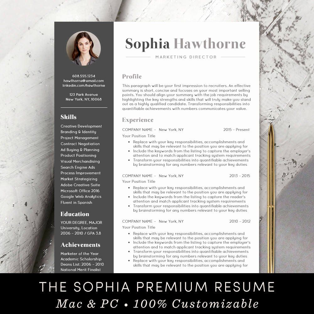 Professional Resume Template Word Best Of Professional Resume Template With Modern Cv Word Cv Words Resume Template Professional Resume Template Word