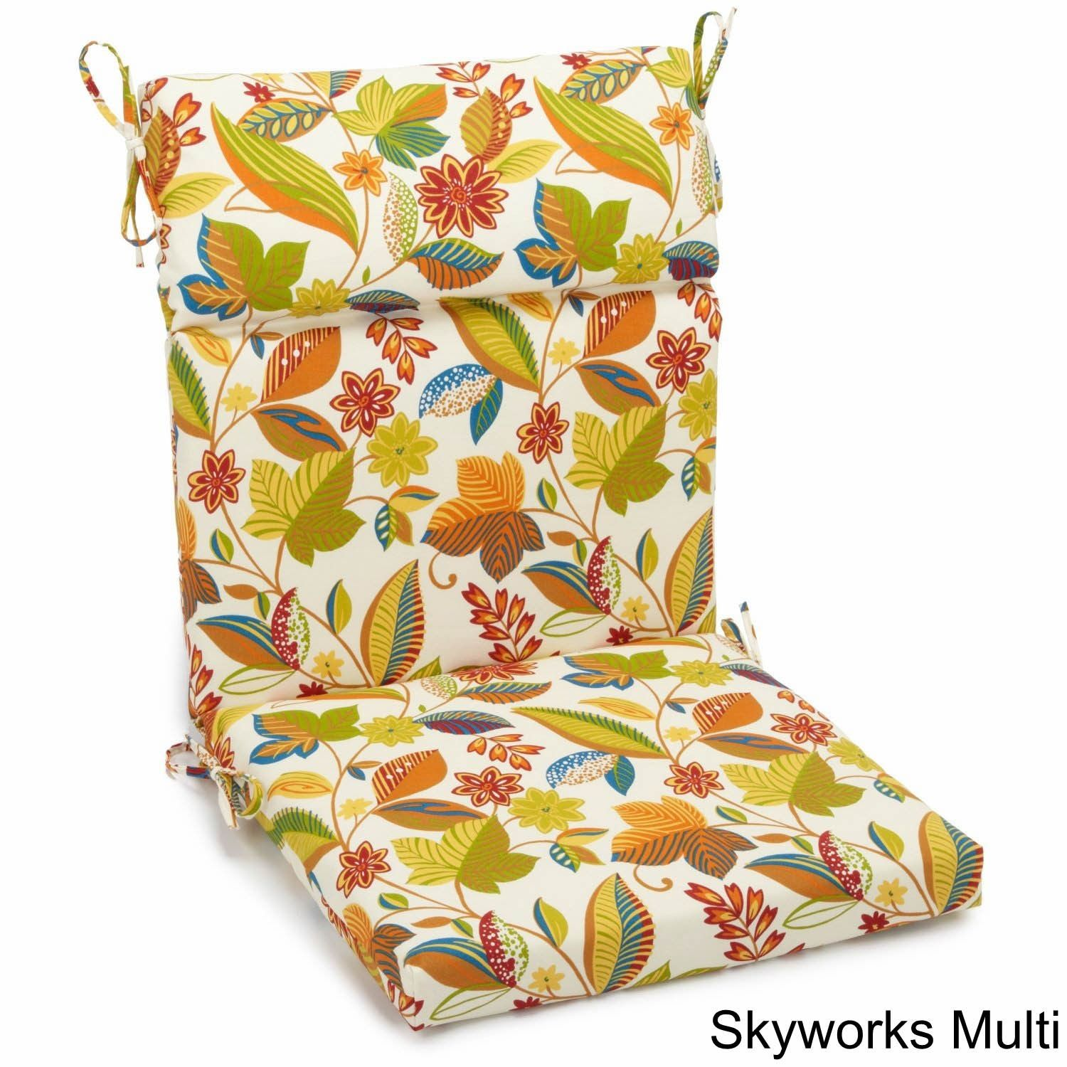 Blazing Needles 3 Section Indoor Outdoor Chair Cushion 38 X 18