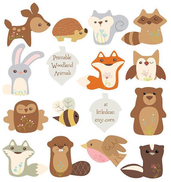 Gut Printable Woodland Animals Banner Set 1 PDF Digital Von Littledear.  WandbemalungDruckenHerbstSchnittmusterKinderzimmerWaldtiereDruckbare ...