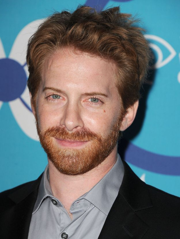 """Maybe Seth Green will let me use his tinge of ginge beard as a drool cloth? 