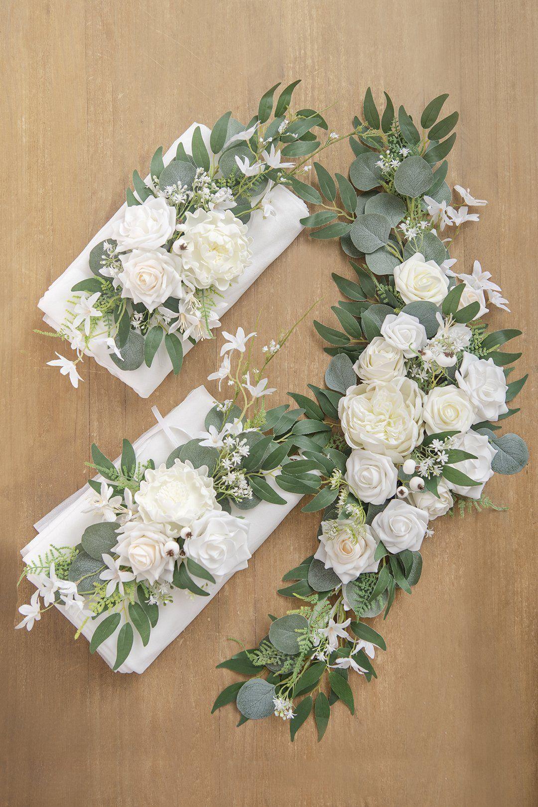 Wedding Arch Floral Kit Flower Arrangement & Sheer Swag