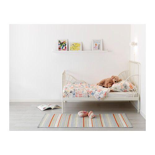 MINNEN Jatkettava sängynrunko + sälepohja, valkoinen valkoinen 80x200 cm
