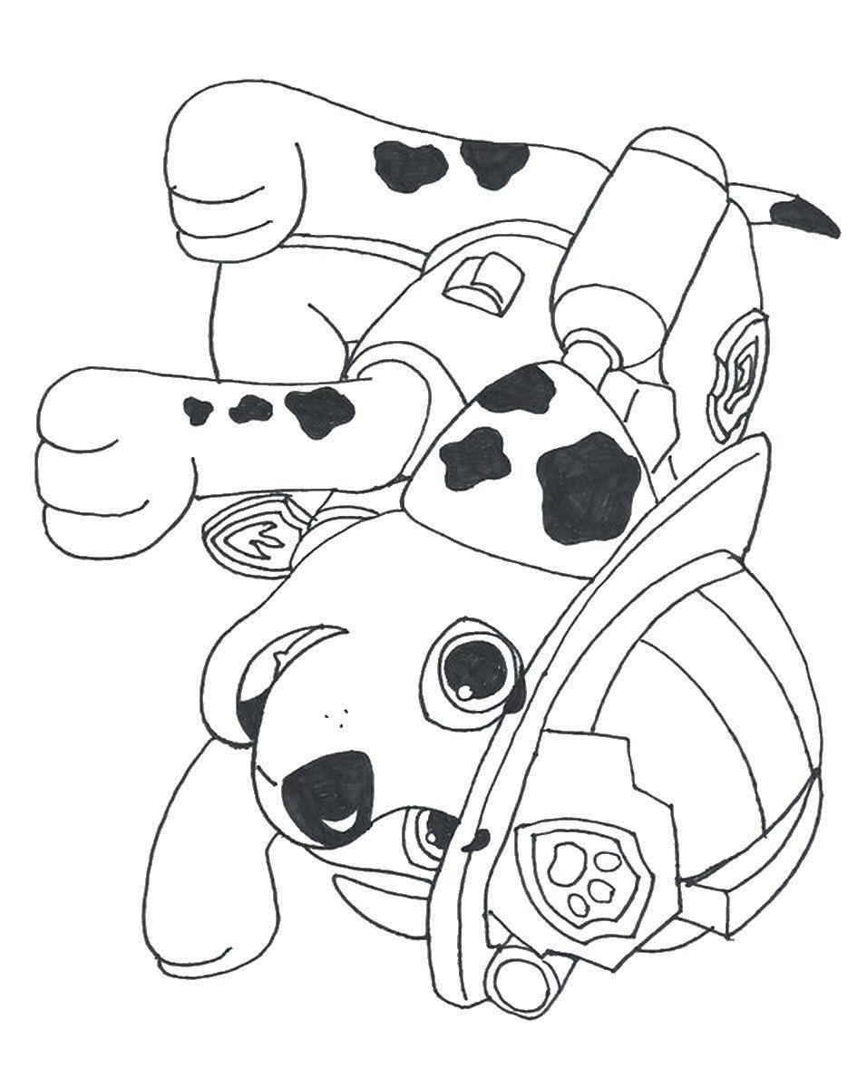 956x1200 Coloring Pages Of Marshall From Paw Patrol New ...