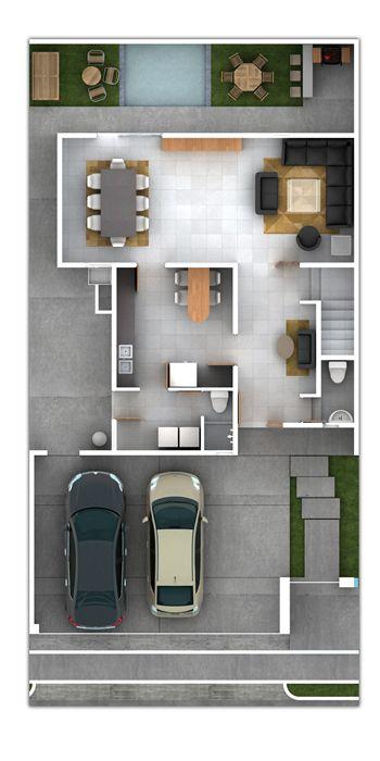 Planos de casas y plantas arquitect nicas de casas y for Casas de tres recamaras