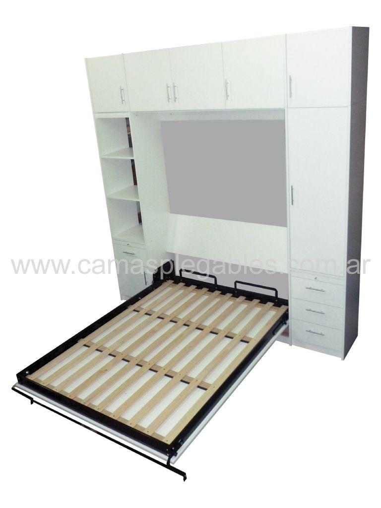 Mueble placard con cama plegable rebatible en melamina for Mueble cama plegable
