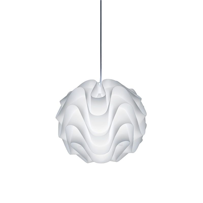 Eringue Suspension Features Waved Layers Of White Polypropylene That Create A Stunning Luminaire Available In Plug In Pendant Light Pendant Light Pendant Lamp