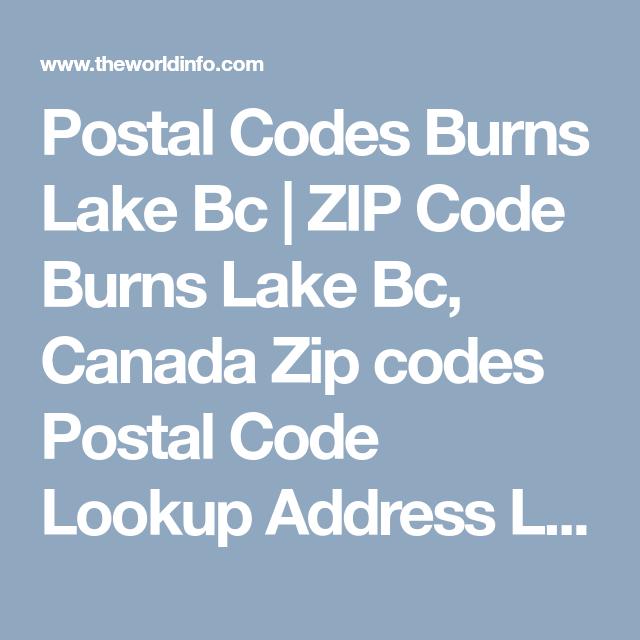 Postal Codes Burns Lake Bc | ZIP Code Burns Lake Bc, Canada Zip
