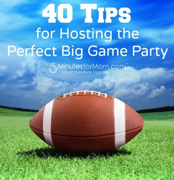 40 Tips for Hosting the Perfect Football Party
