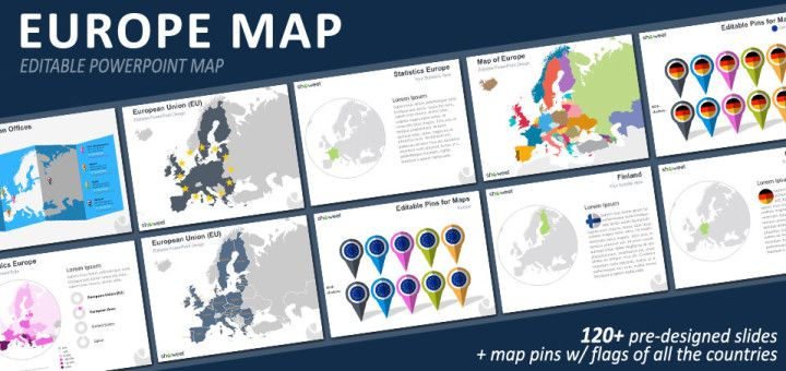 europe map powerpoint template powerpoint maps pinterest map