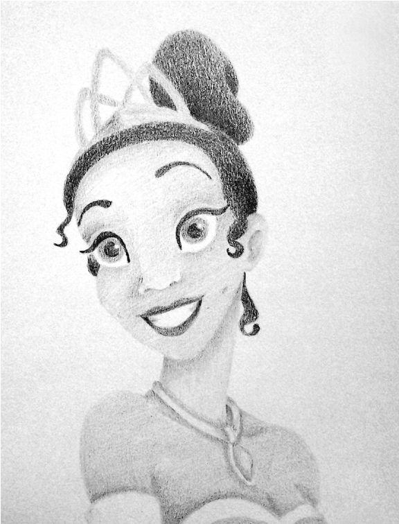 Line Art Shading : Tiana no line drawing shading only pencil