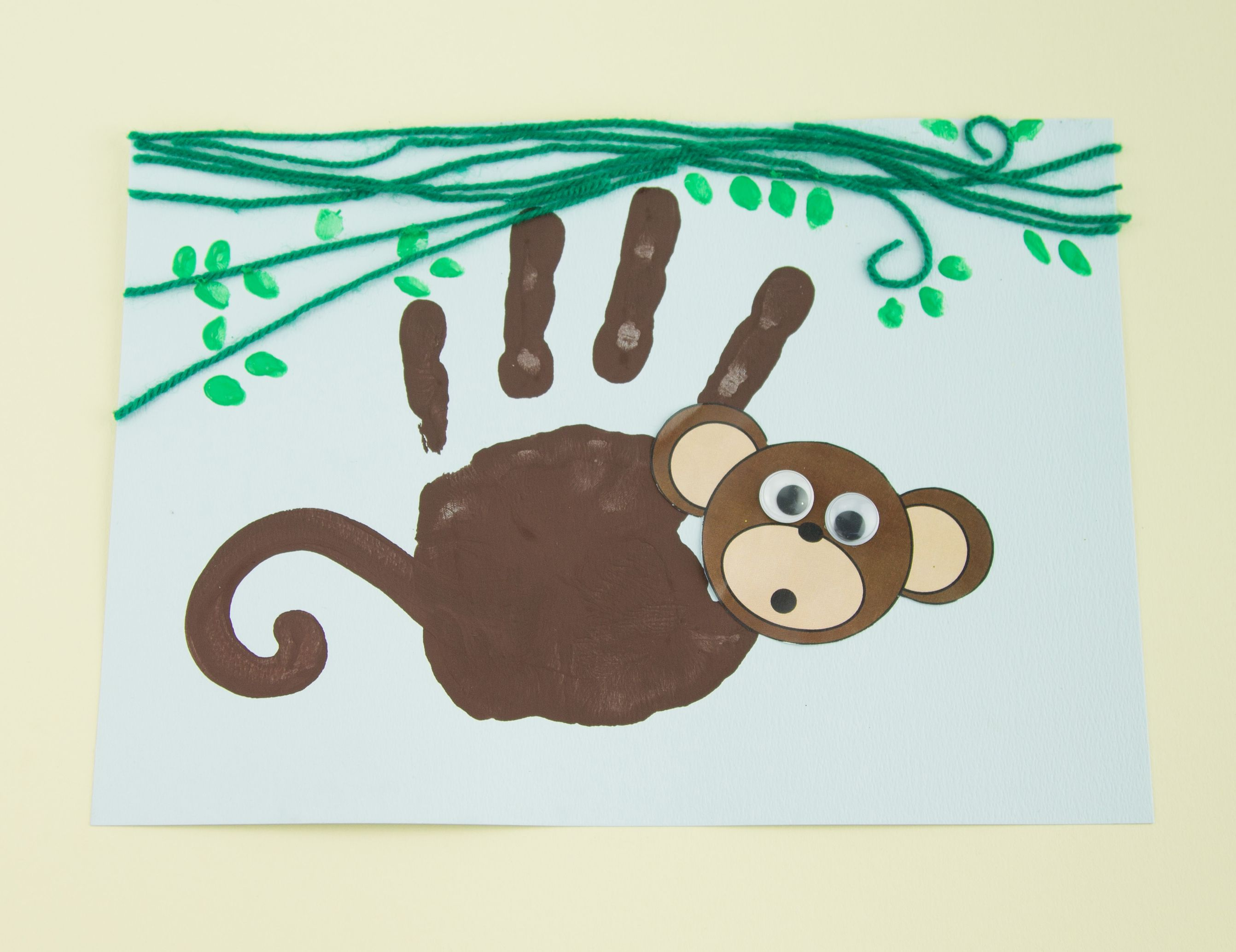 handprint monkey twinkl craft idea kuvis pinterest monkey