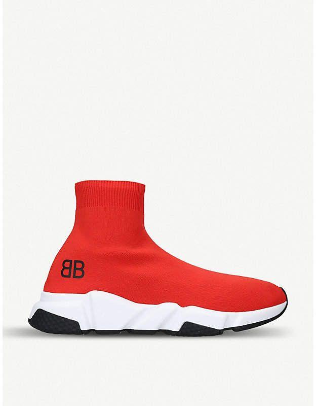 BALENCIAGA SPEED TRAINER MID WHITE #BALENCIAGA   Sneakers