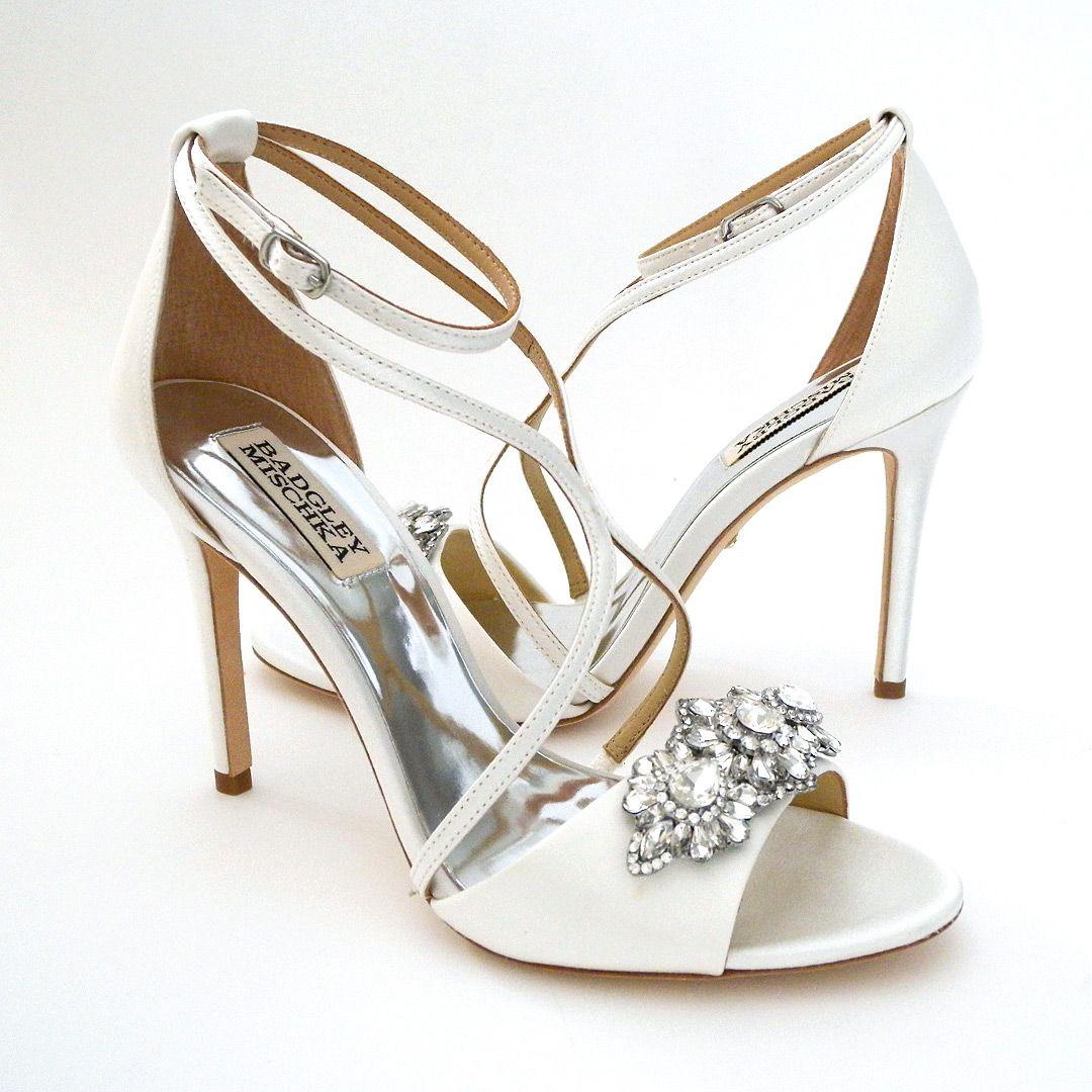 Badgley Mischka Vanessa, White. Wedding Sandals That