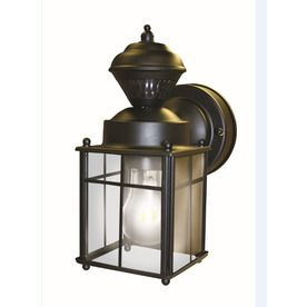 Outdoor Solar Lights Lowes Best $40 Lowes Secure Home 952In H Matte Black Motion Activated Outdoor Design Ideas