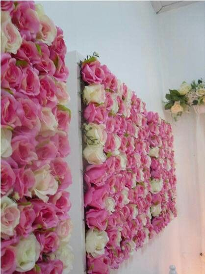 Rose wall decor try to shape wood to make letters for monograms