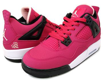 "NIKE GIRLS AIR JORDAN 4 RETRO GS ""Valentine's Day"""