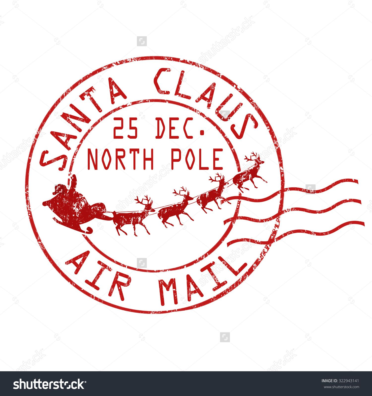 Postmark Stock Photos Images Pictures Mail Stamp Santa Stamp Lettering