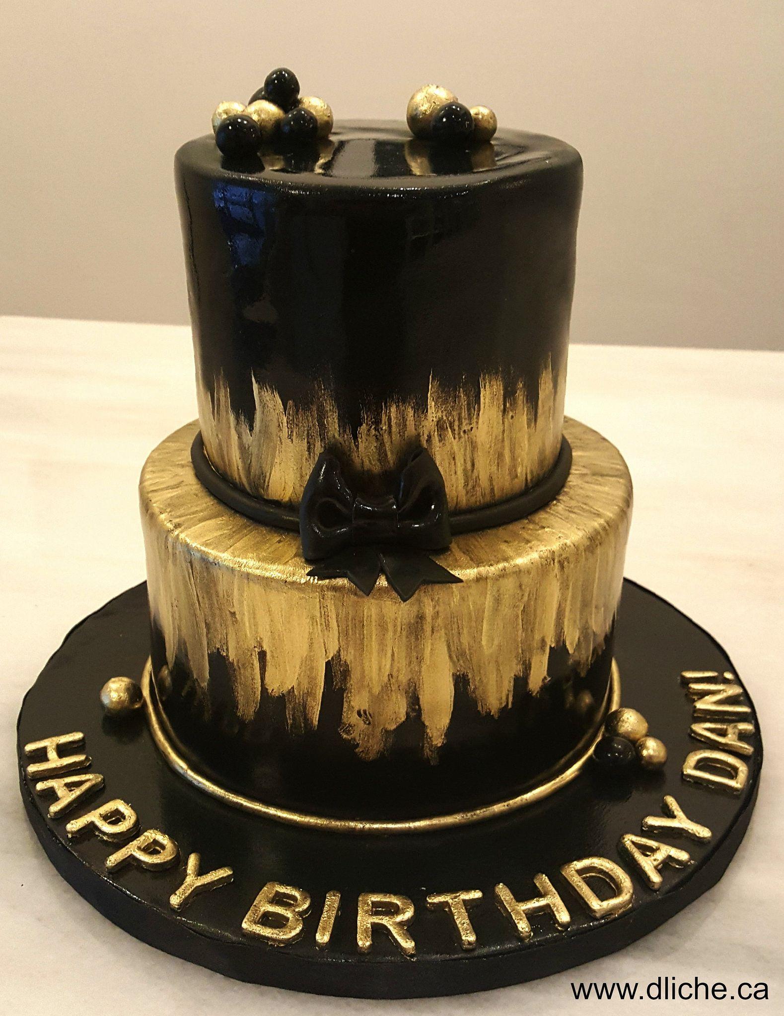 Black Gold Cake Black And Gold Birthday Cake Golden Birthday