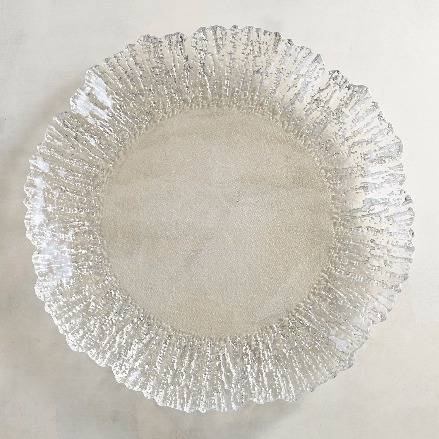 Luster Silver Rim Glass Charger Plate Pier 1 Imports 14 95