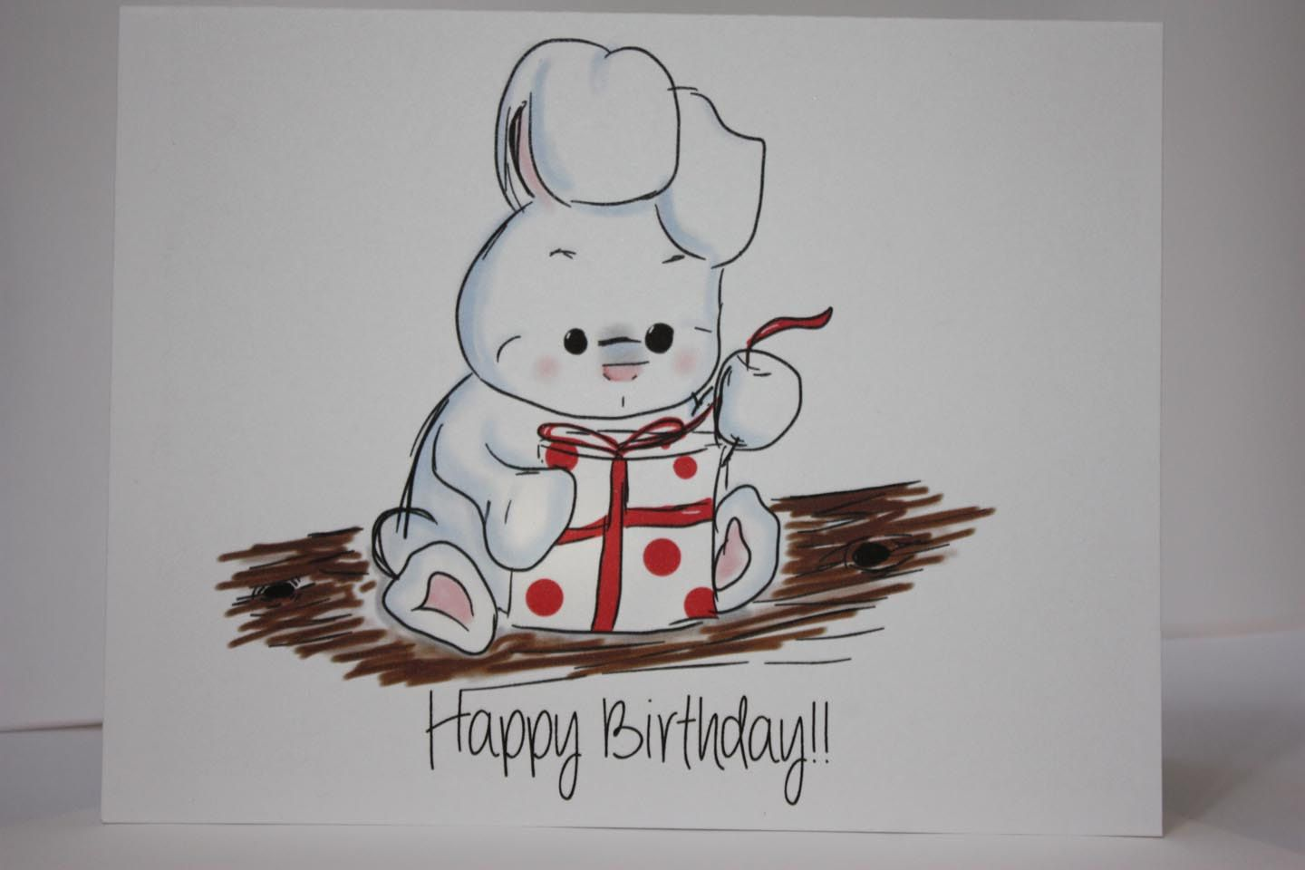 Used for atlantas 13th batman pinterest cards rabbit birthday card bunny rabbit birthdaycard white rabbit drawing card made on reycled paper comes with envelope and seal bookmarktalkfo Choice Image