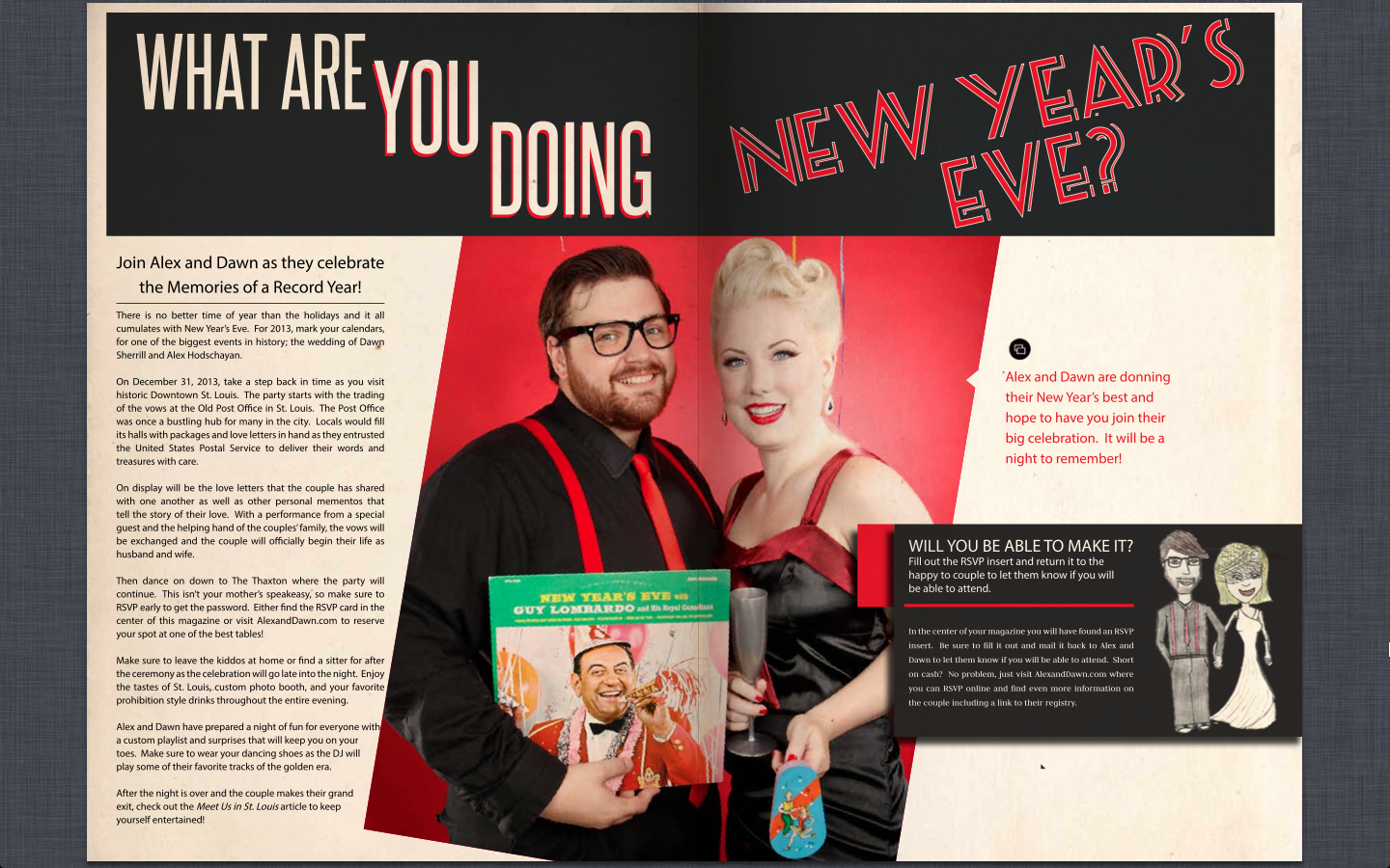 Wedding Invitation Magazine What Are You Doing New Year\'s Eve ...