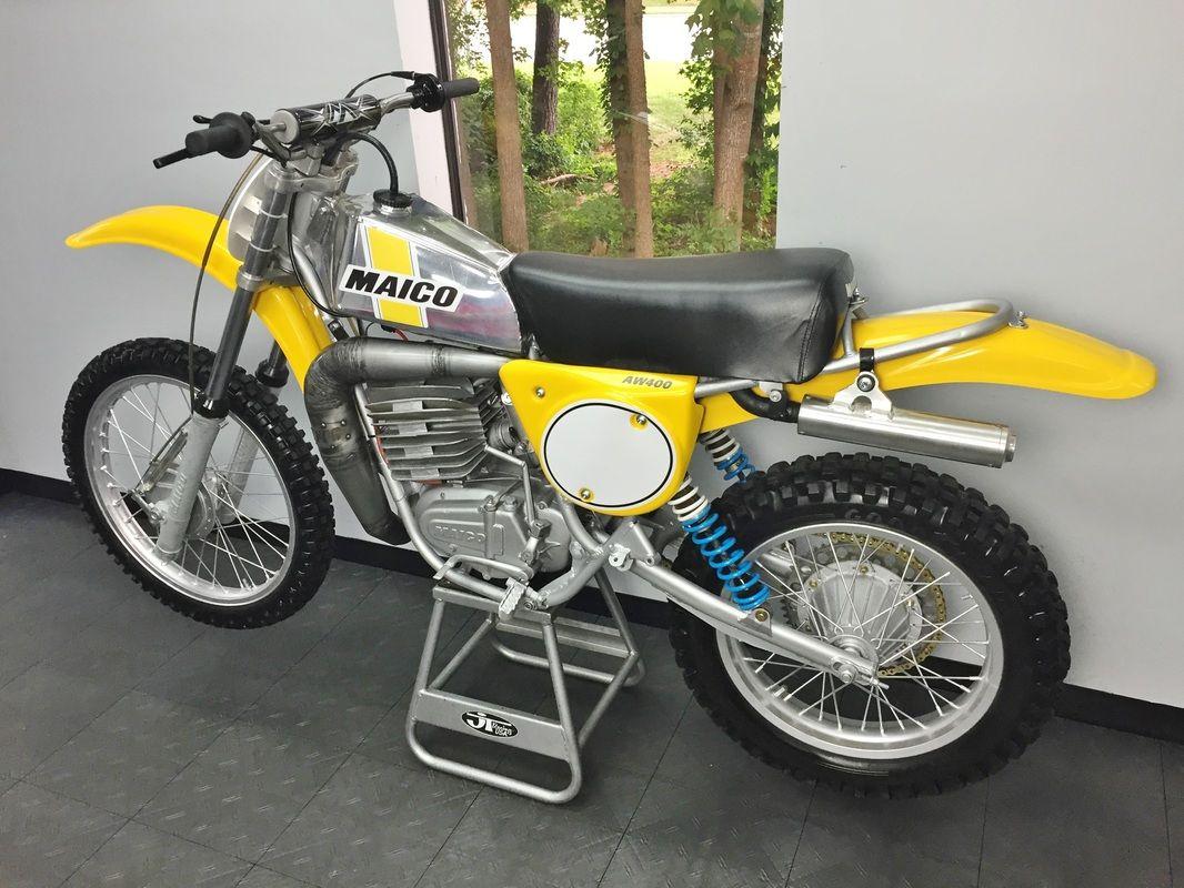 1976 Maico 400 Vintage Motocross Vintage Bikes Classic Bikes