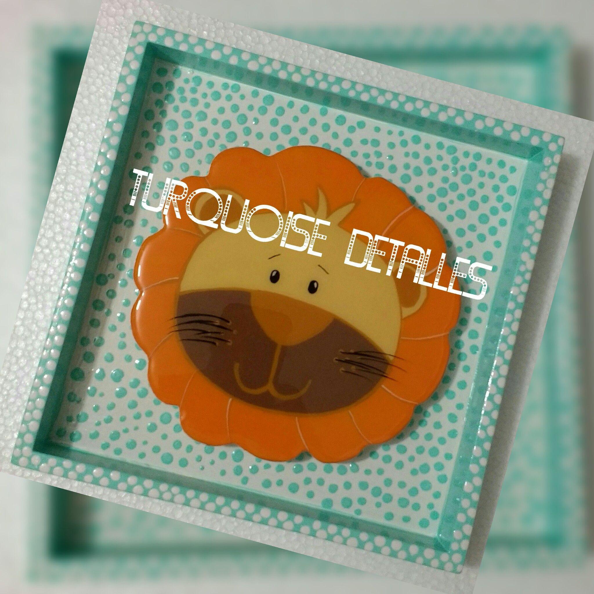 turquoise detalles hermoso cuadro para decorar el cuarto de tu bebe cuadro en tecnica puntillismo