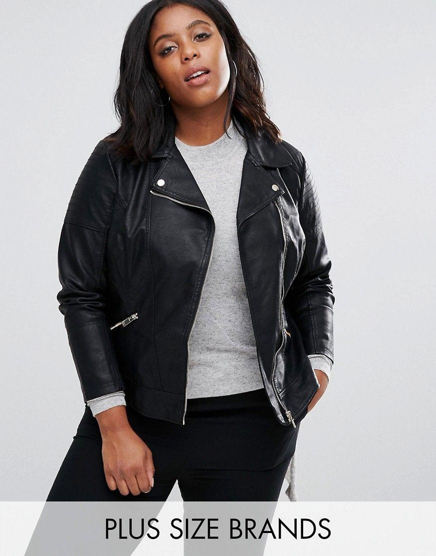 Buy It Now New Look Plus Leather Look Biker Jacket Black Biker Jacket By New Look Plus Leather Look Fa Chaqueta Cuero Mujer Chaqueta De Cuero Look Juvenil [ 1110 x 870 Pixel ]