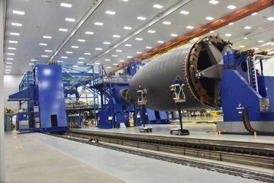 A Star Shaped Arm Mates To The Jig Ring Of A Composite Cockpit Section At Spirit Aerosystems As Strips Of Car Mitsubishi Heavy Industries Autoclaves Autoclave