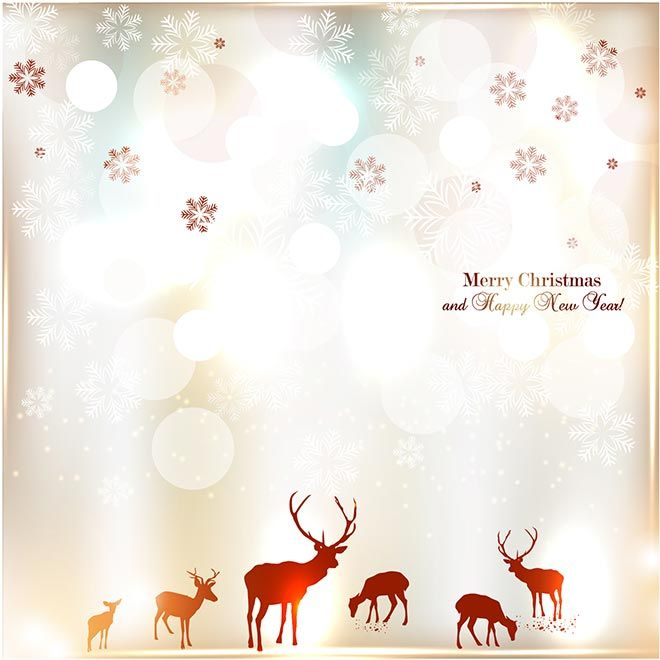 Free Vector illustration of Vintage elegant Merry Christmas and – Christmas Invitation Cards