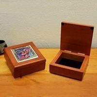 Photo Tile Keepsake Box, free personalization and free shipping