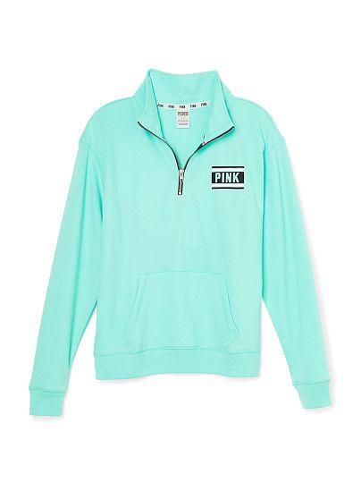 Boyfriend Half-Zip - PINK - Victoria's Secret | clothes ...