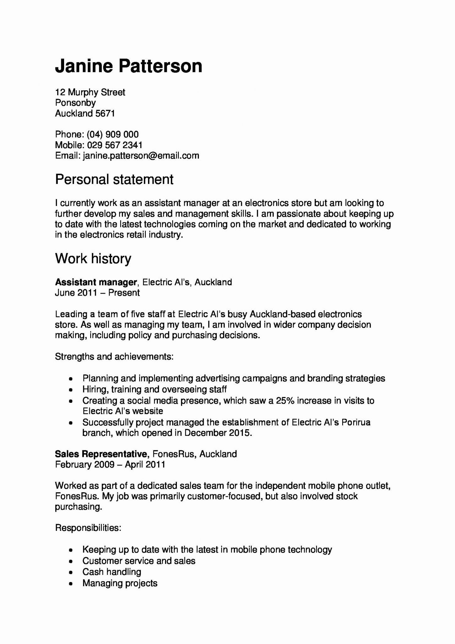Statement Qualifications Template Inspirational Resume Samples