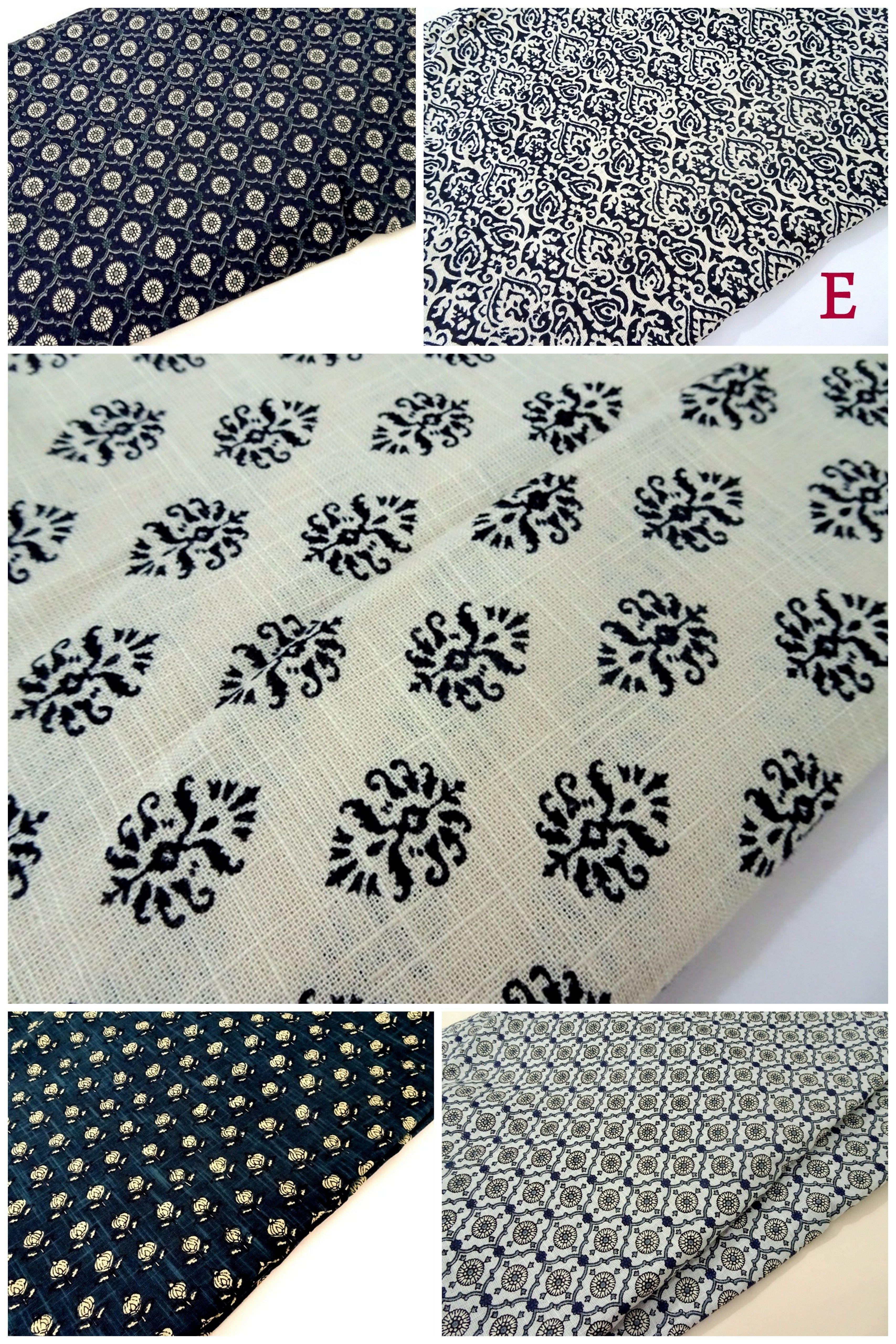Indian Block Print Linen Fabric Block Printing Fabric Indian