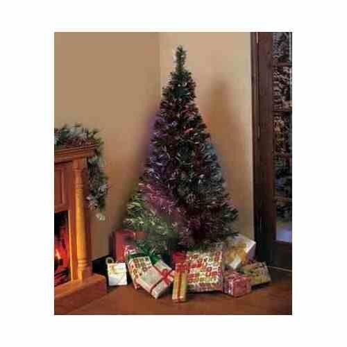 6 foot fiber optic christmas tree energy efficient lights holiday