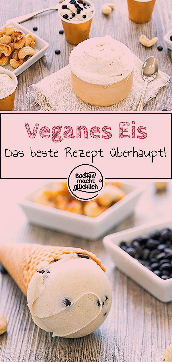 Photo of Cremiges veganes Vanilleeis   Backen macht glücklich