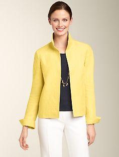 Talbots Linen Twill-Weave Jacket
